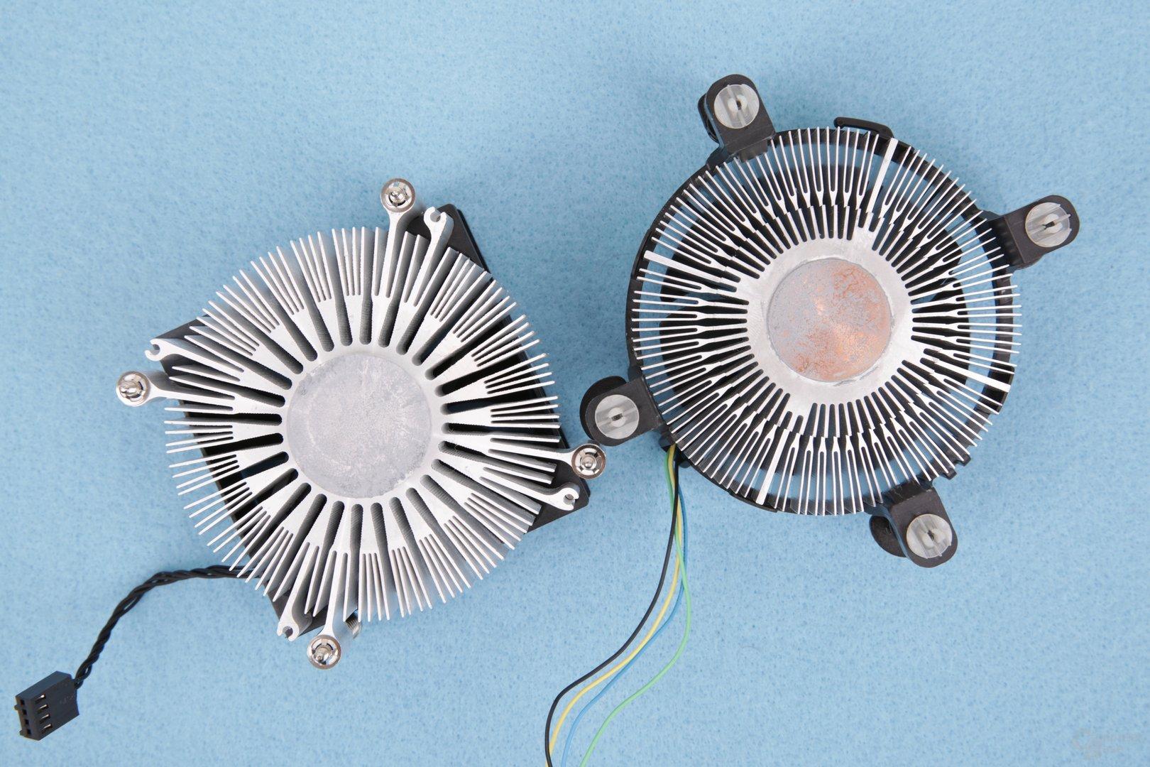 HP-Kühler im Vergleich zum Intel-Boxed