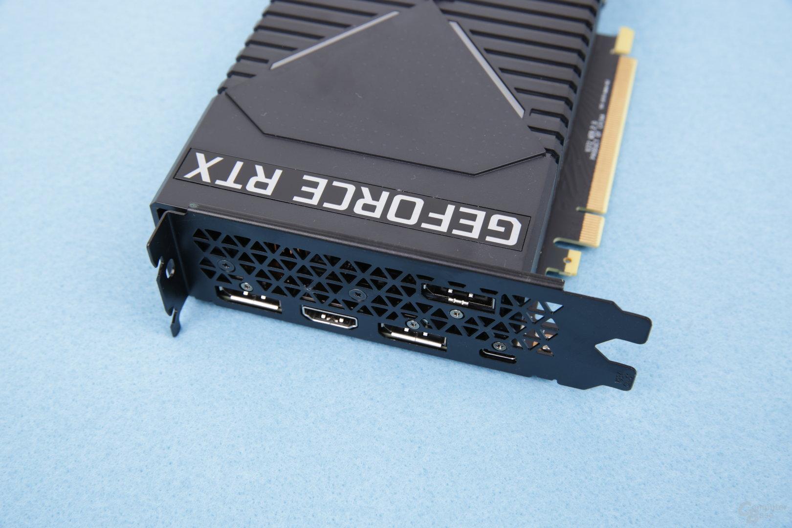 Die GeForce RTX 2080 von HP mit DHE-Kühlsystem