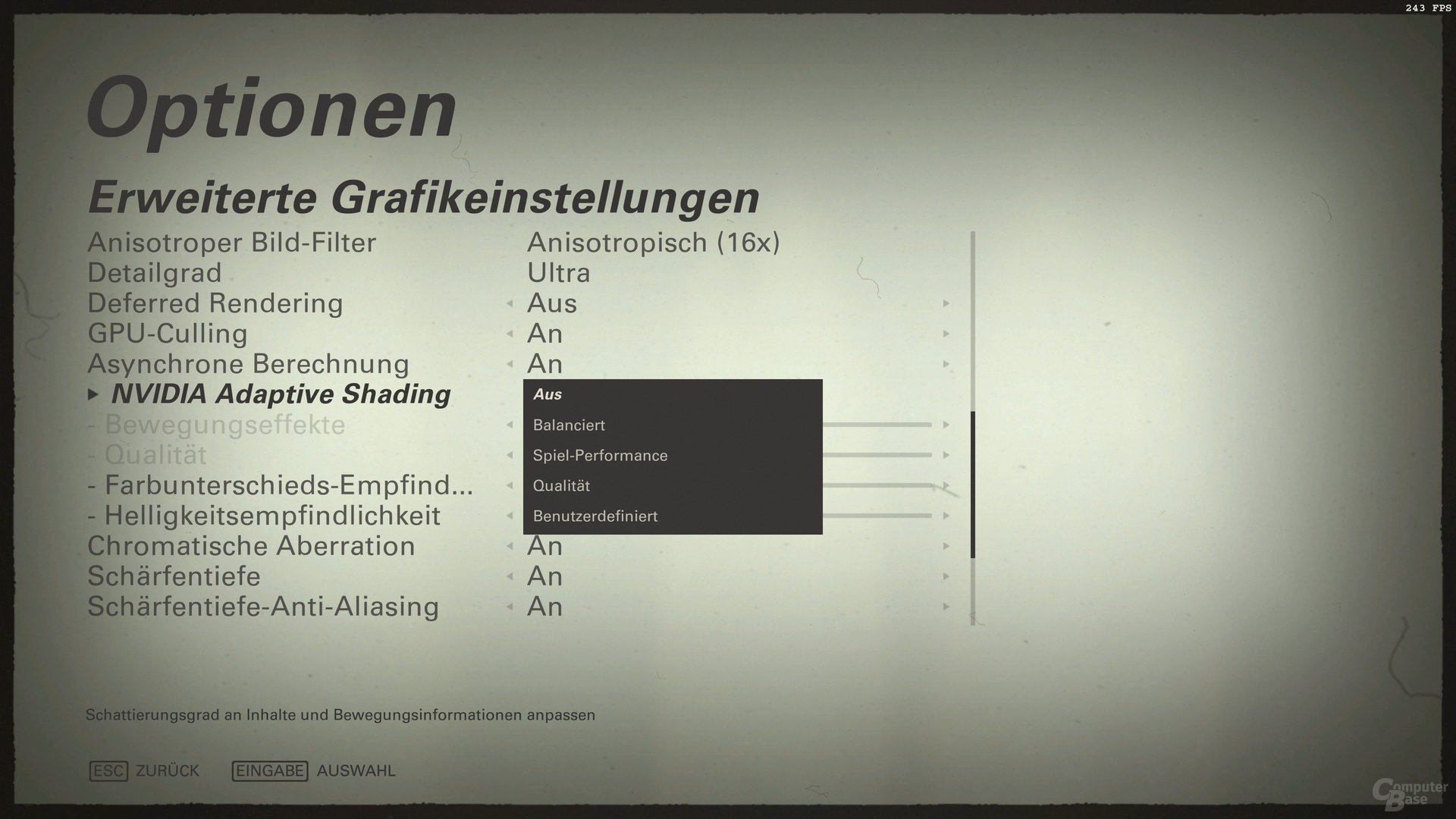Wolfenstein 2 – Nvidia Adaptive Shading