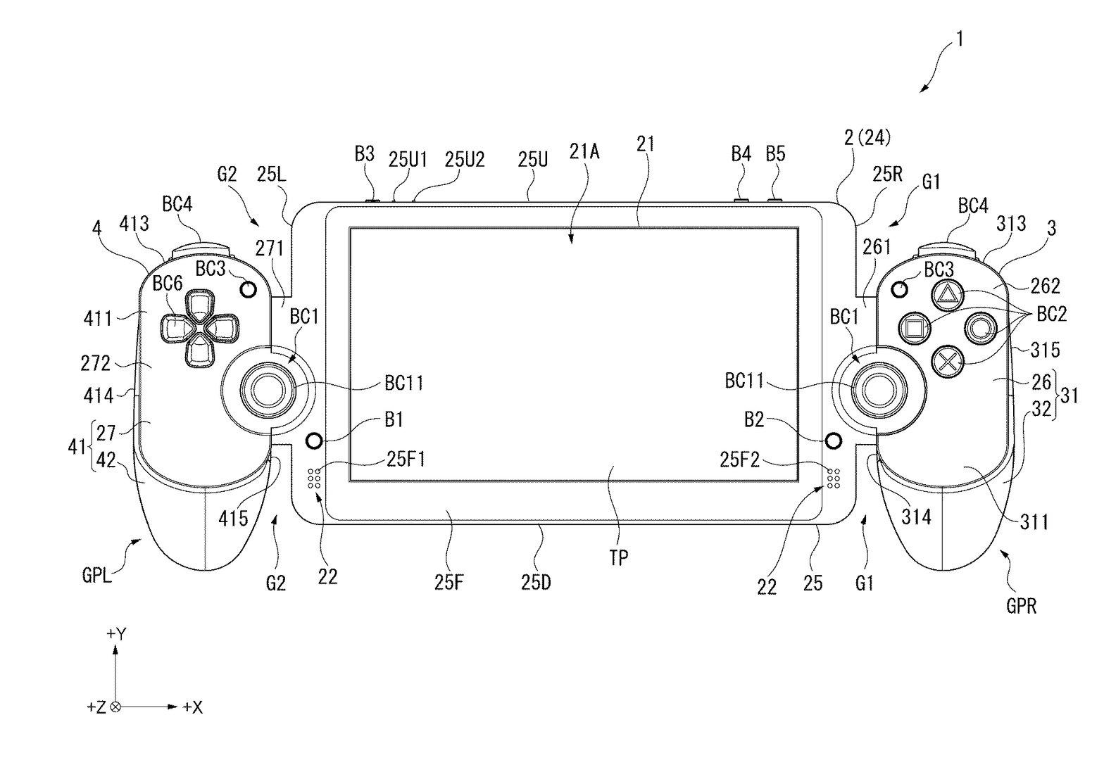 Sony-Patent einer mobilen Spielekonsole