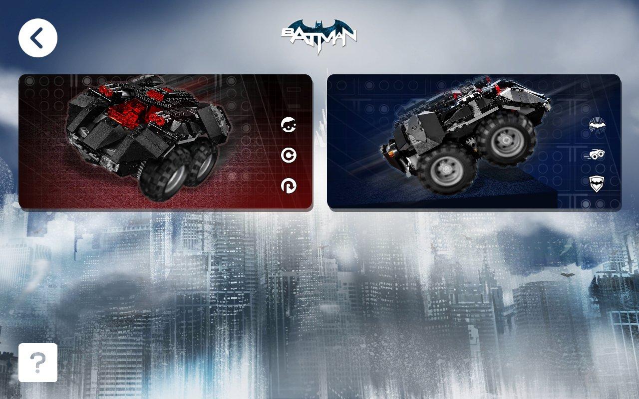Die Powered-Up-App für das Batmobile 76112 unterstützt zwei Modi