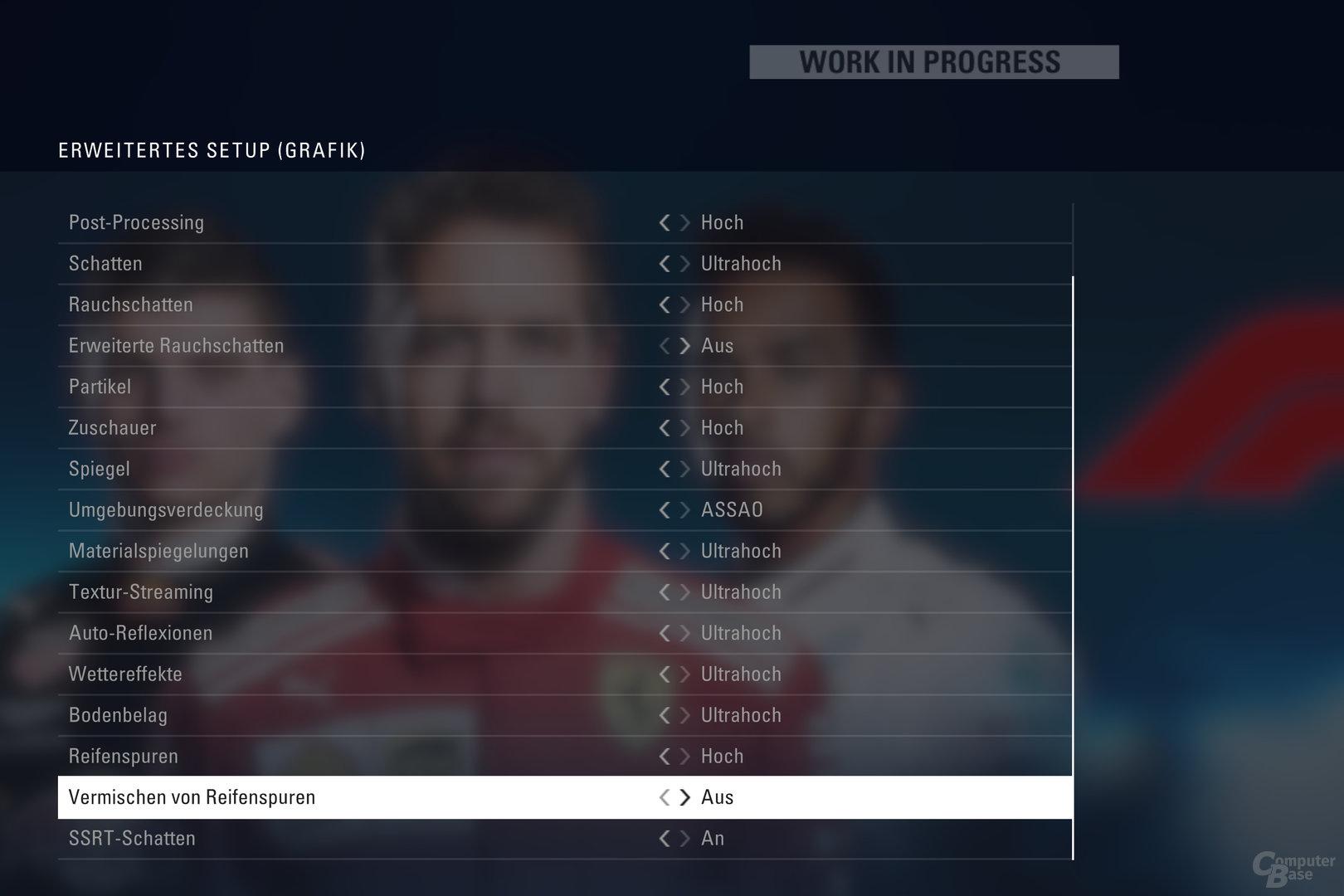 Die neuen Grafikoptionen von F1 2018 mit DirectX 12
