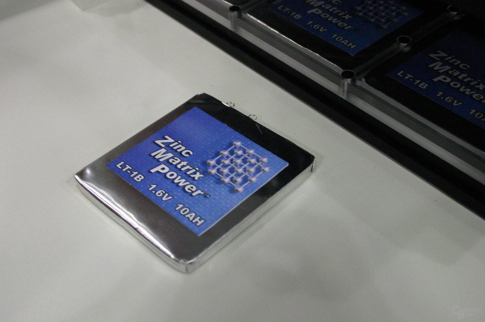 Eine Zinc Matrix Power-Zelle liefet 16 Wh