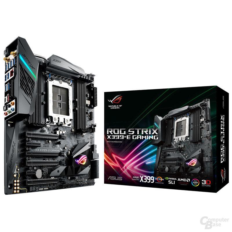 Die CPU sitzt auf dem Asus ROG Strix X399-E
