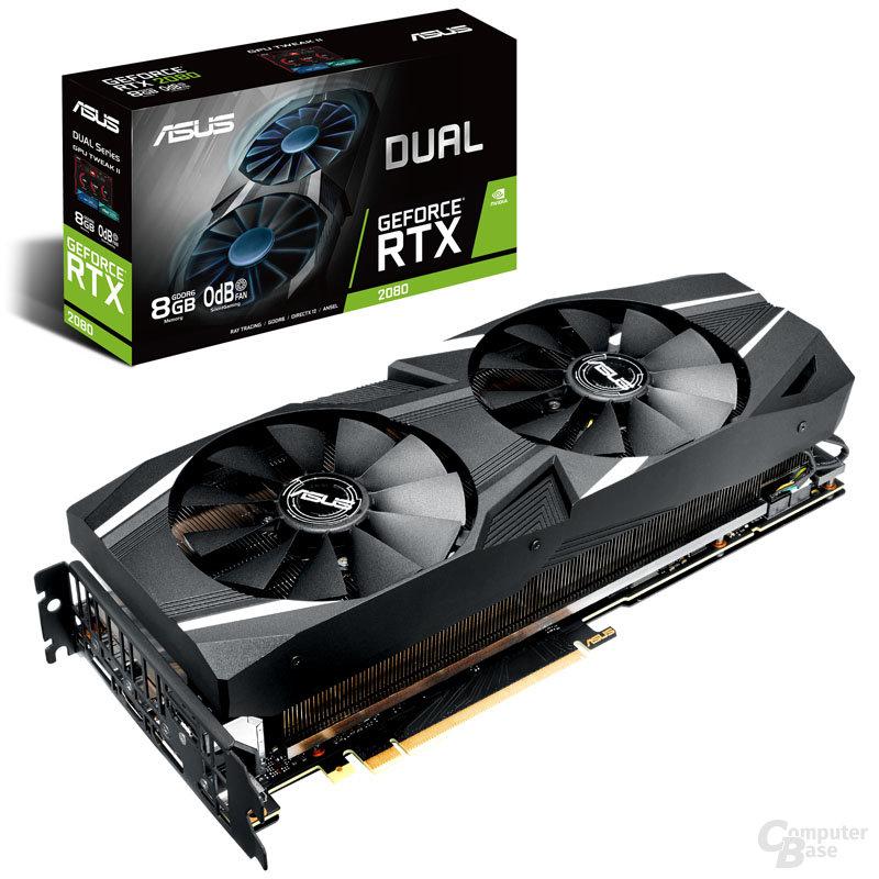 Die Asus GeForce RTX 2080 Dual setzt auf Turing