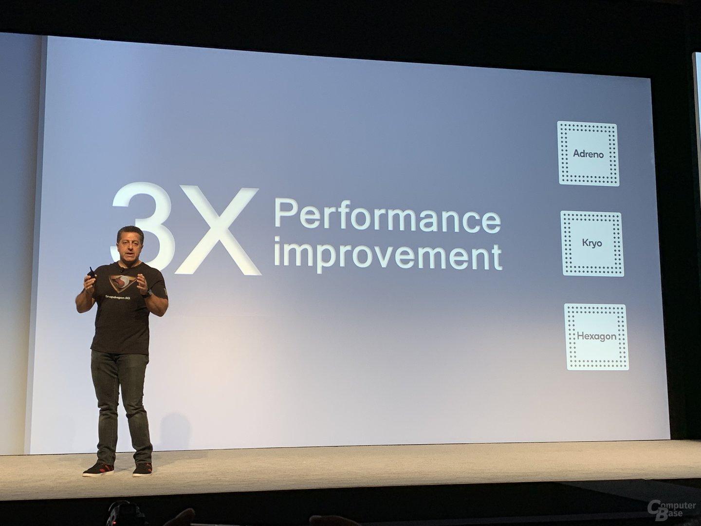 Dreimal höhere KI-Leistung als der Snapdragon 845