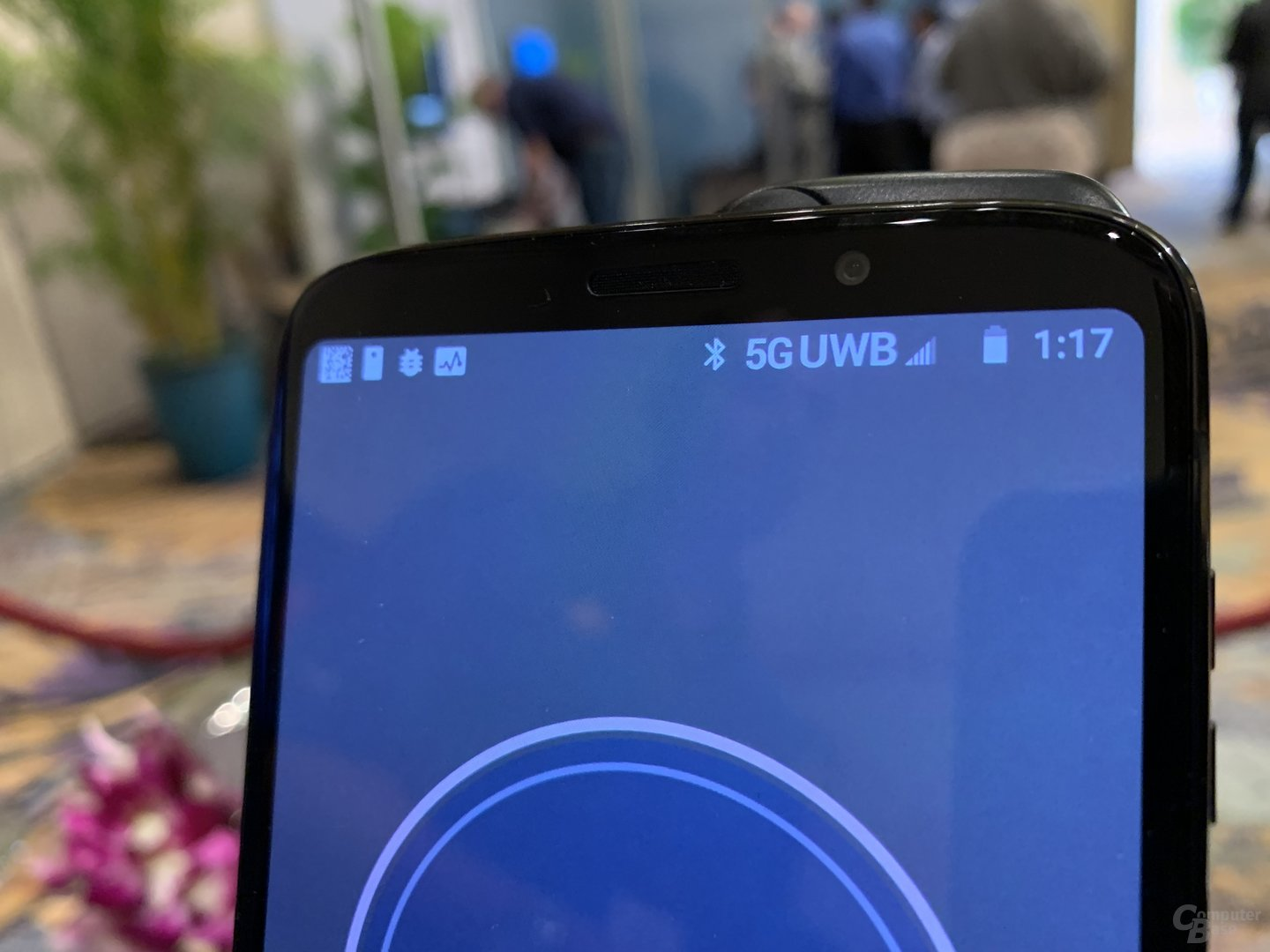 Statusleiste mit 5G Ultra Wide Band (mmWave)
