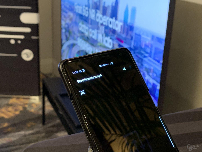5G UWB auf einem Smartphone-Prototyp von Samsung