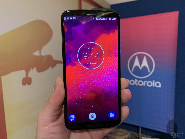 Moto Mod für 5G auf dem Moto Z3