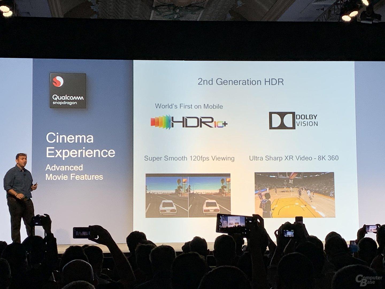 Spiele werden mit HDR10+ und Dolby Vision unterstützt