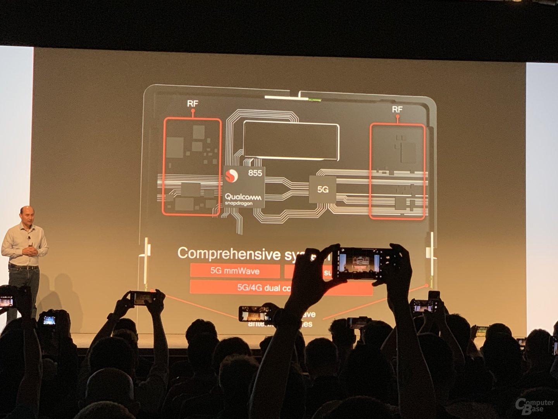 Aufbau des Snapdragon 855 mit Snapdragon X50