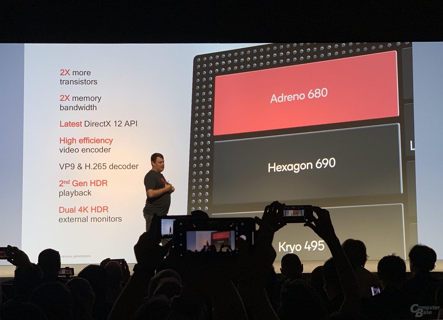 Veränderungen an der GPU für die Adreno 680