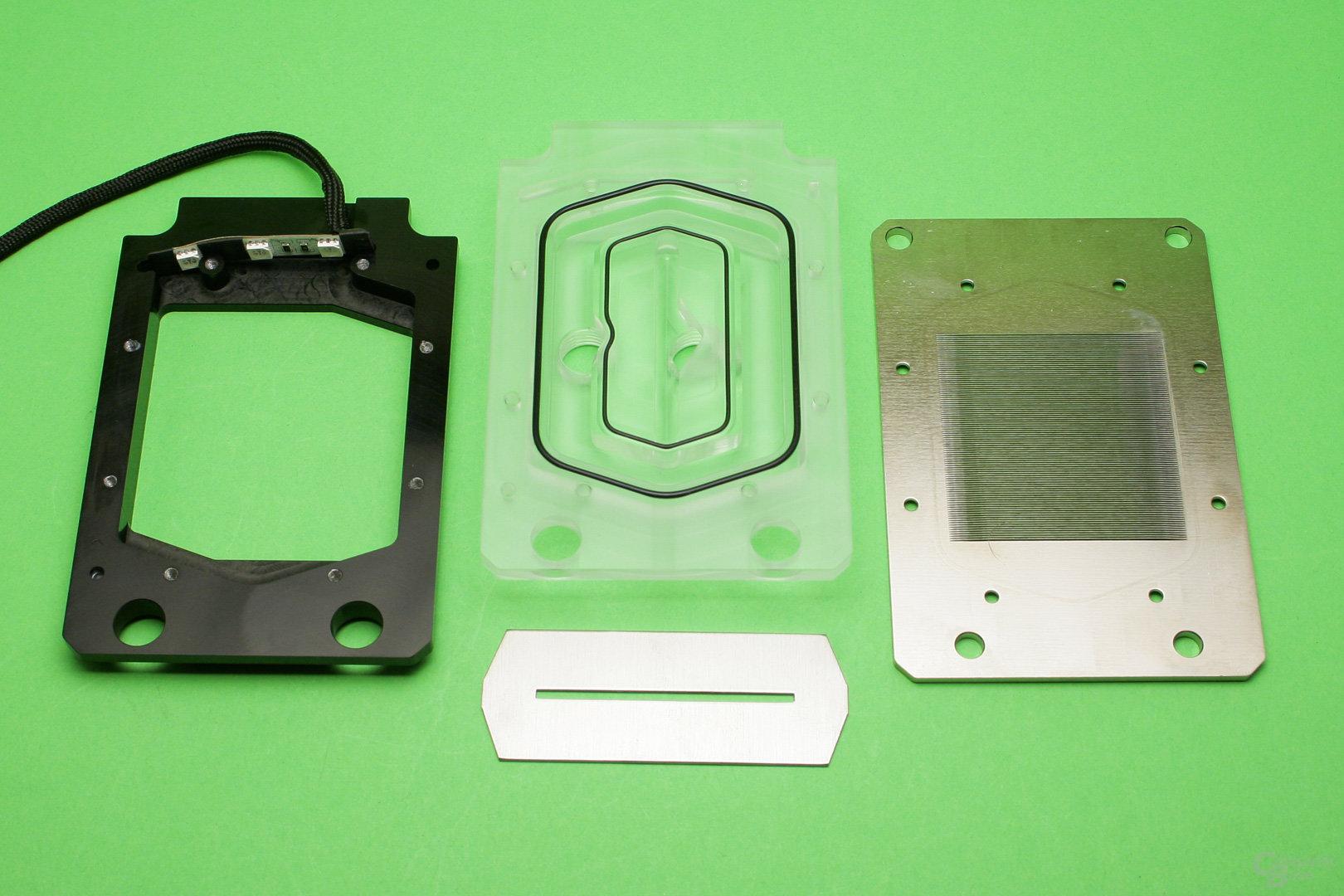 Watercool Heatkiller IV Pro TR4: Einzelteile des Wasserkühlers