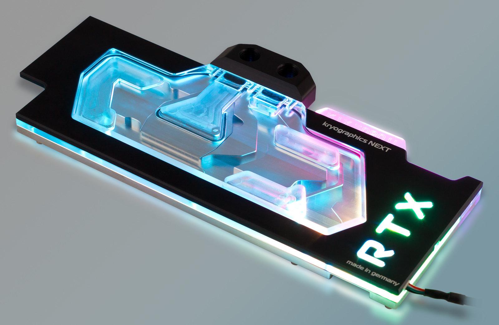 Aqua Computer Kryographics Next RTX 2080 Ti: RGBpx-Beleuchtung mit an Bord