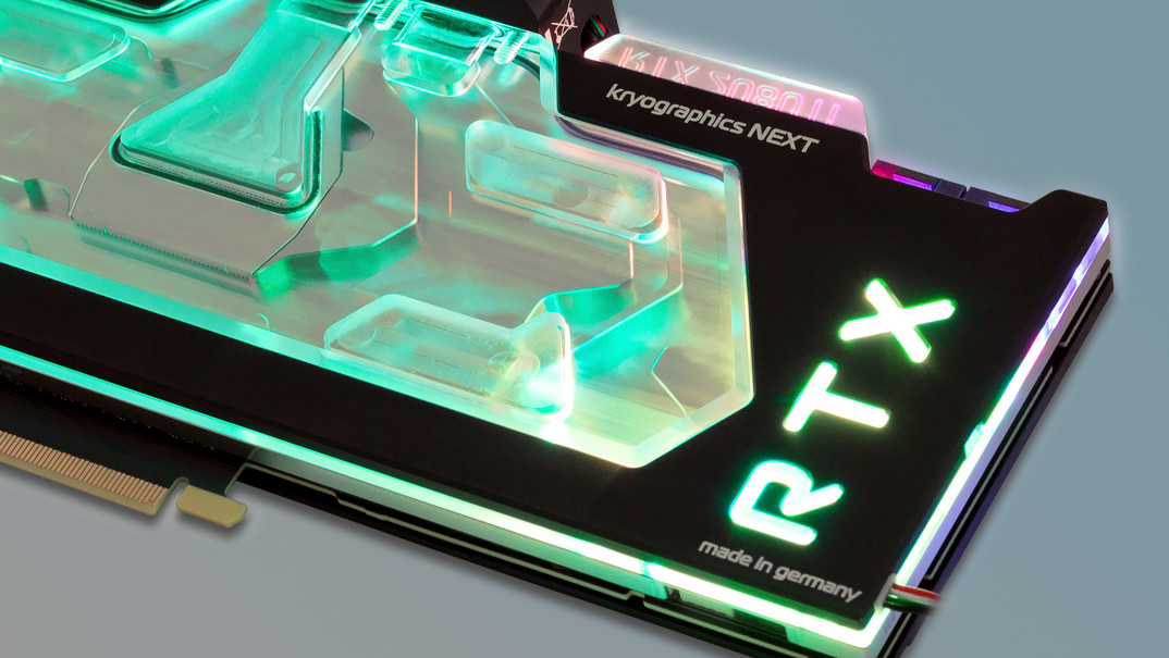 Kryographics Next 2080 (Ti): Aqua Computer bringt Turing zum Leuchten