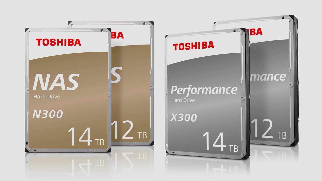 Festplatten: Toshibas N300- und X300-Serie jetzt mit 14 TB