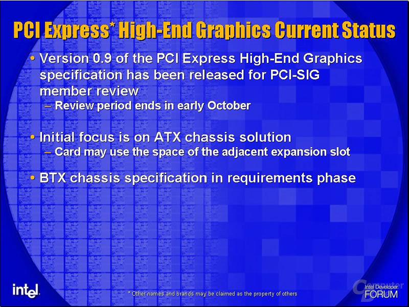 PCI Express für High-End-Grafikkarten