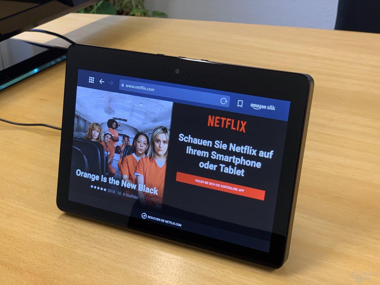 Netflix in Silk auf dem Amazon Echo Show (2018)