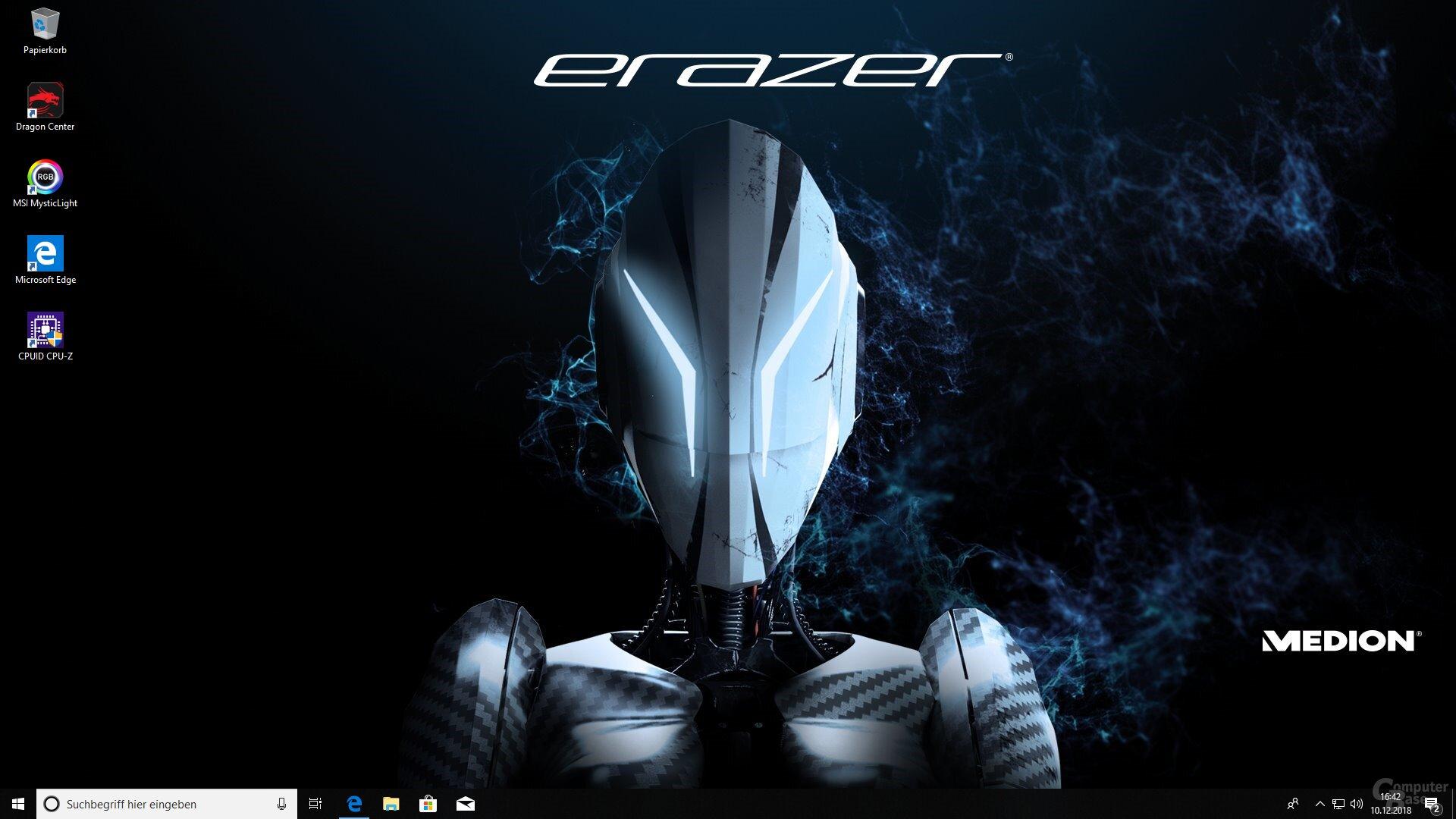 Der Desktop nach dem ersten Start