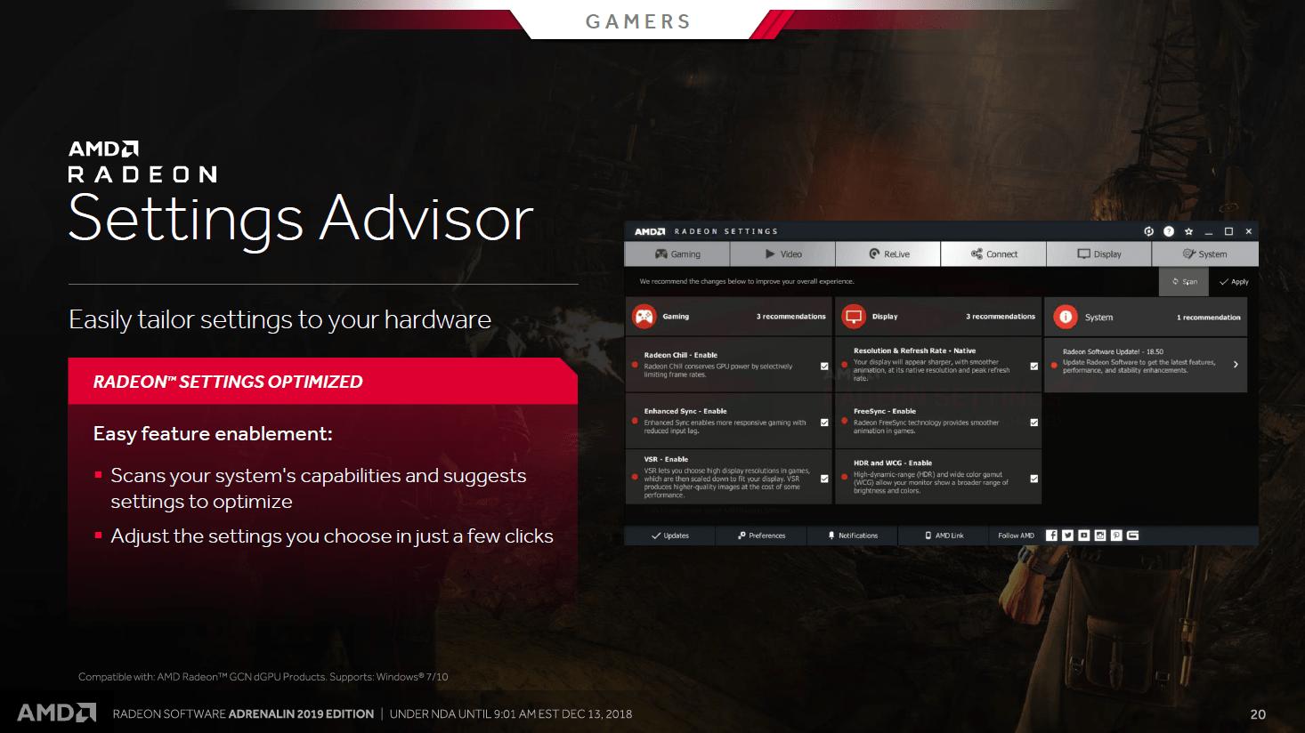 Setting Advisor