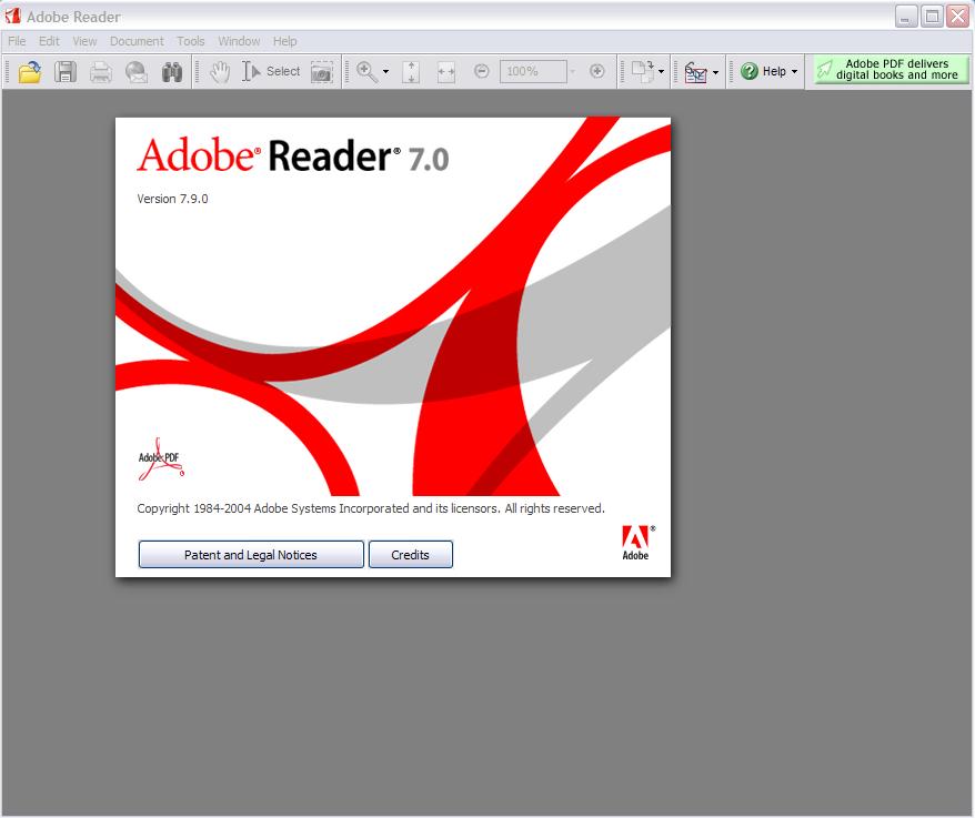 Adobe Reader 7 Start