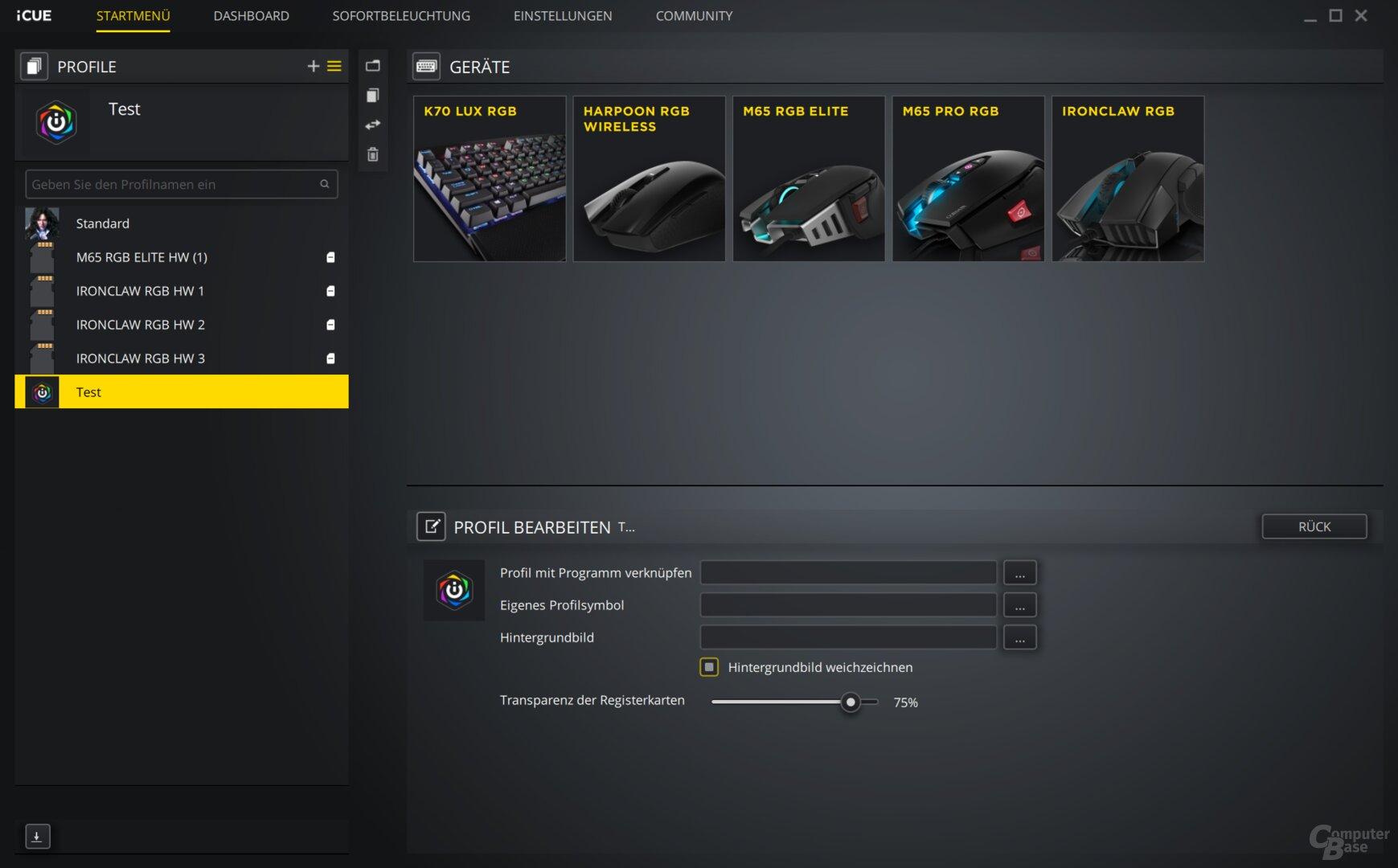 Per iCue lassen sich nahezu alle Corsair-Komponenten verwalten
