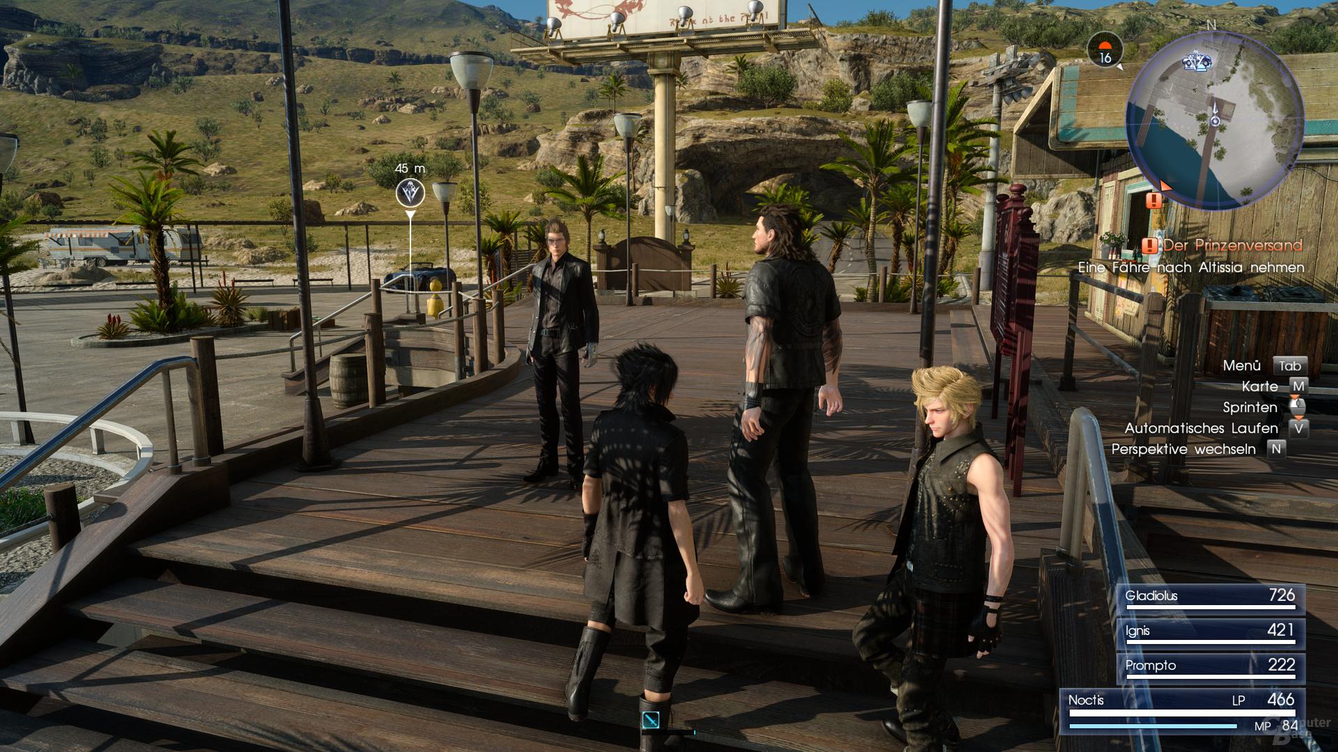 Final Fantasy XV – mit TAA in nativem Ultra HD