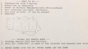 PewDiePie-Fan: Drucker-Hacker druckt wieder weltweit Nachricht aus