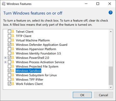 Aktiviert wird die Sandbox in den Windows-Features