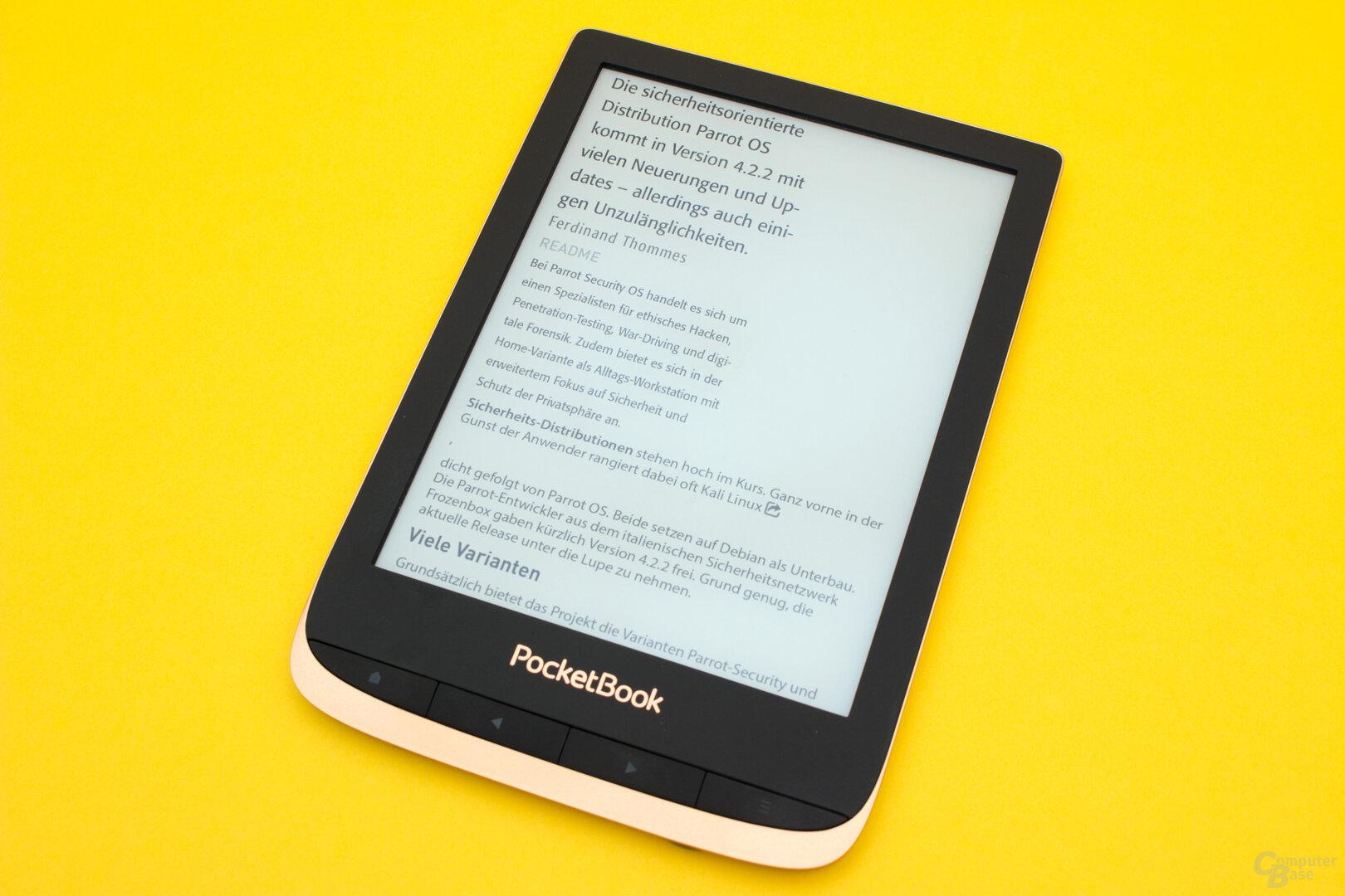 PDF-Reflow macht PDF-Dokument auch auf kleinem Display gut lesbar