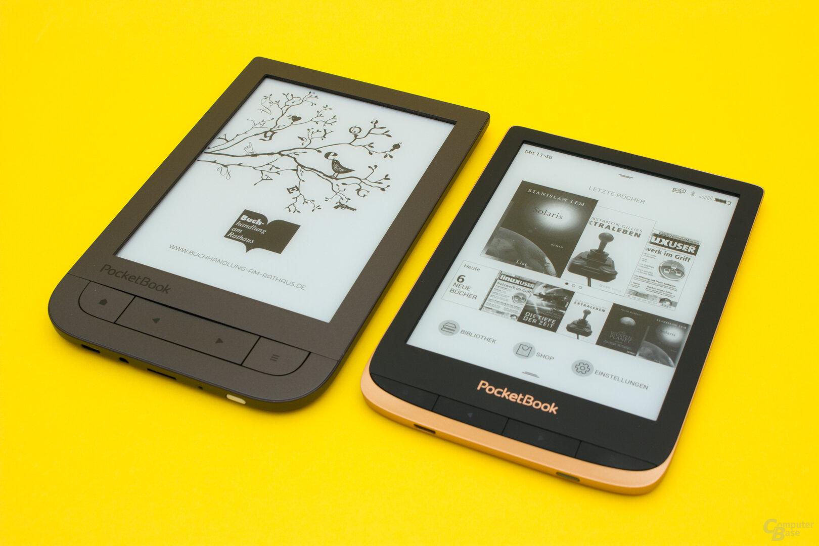 PocketBook Touch HD 2 und HD 3 im Vergleich