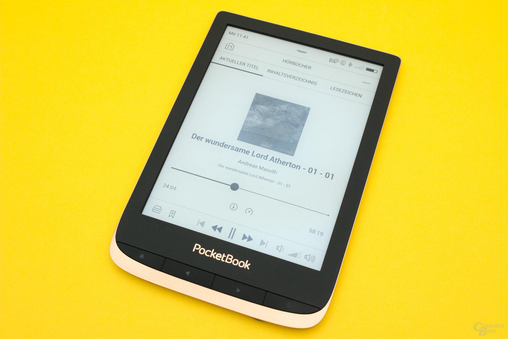 Mit dem speziellen Hörbuch-Player lassen sich entsprechende Inhalte einfacher hören
