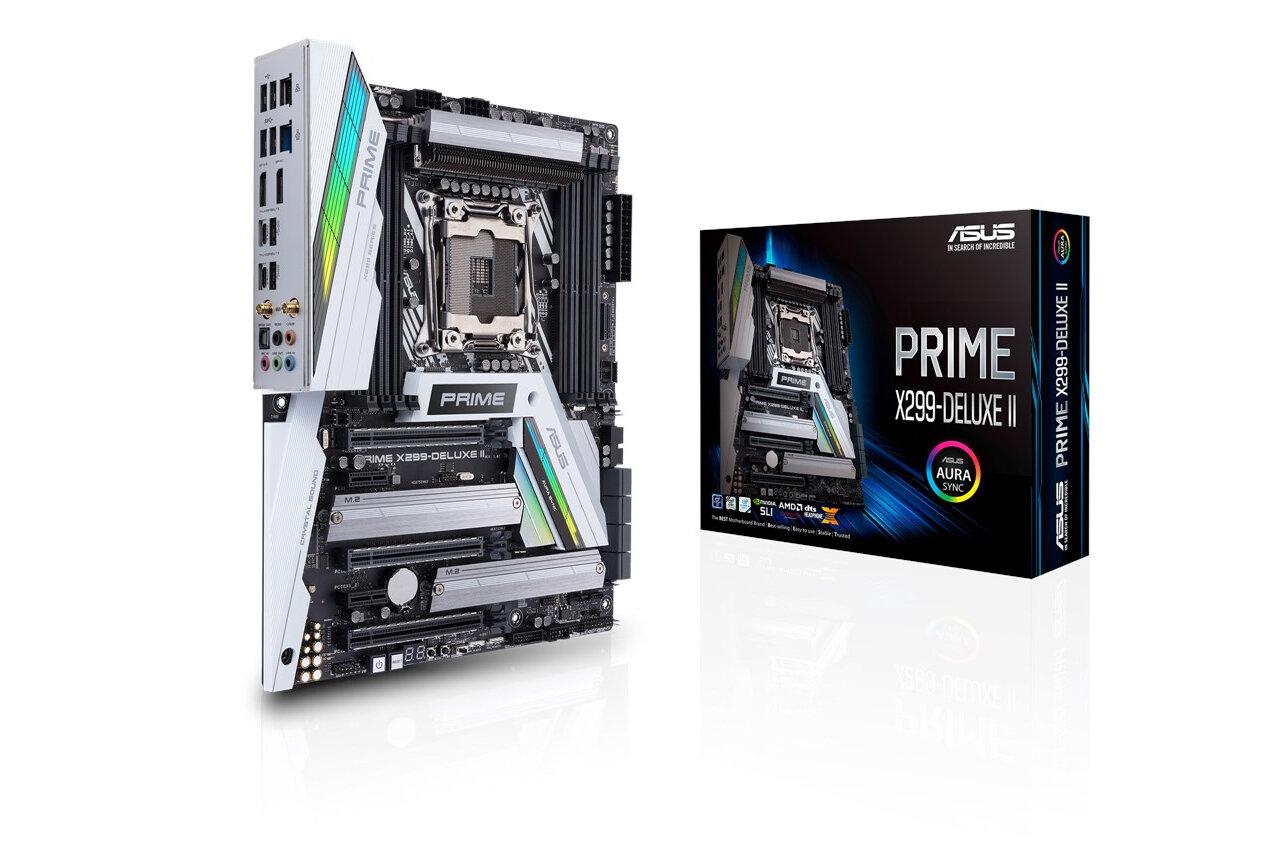 Asus Prime X299-Deluxe II mit Verpackung