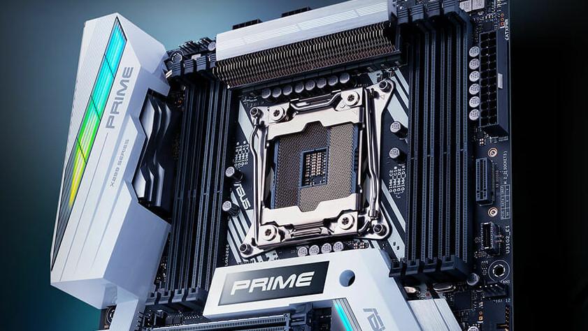 Mainboard: Asus Prime X299-Deluxe II mit neuer Kühlung und RGB