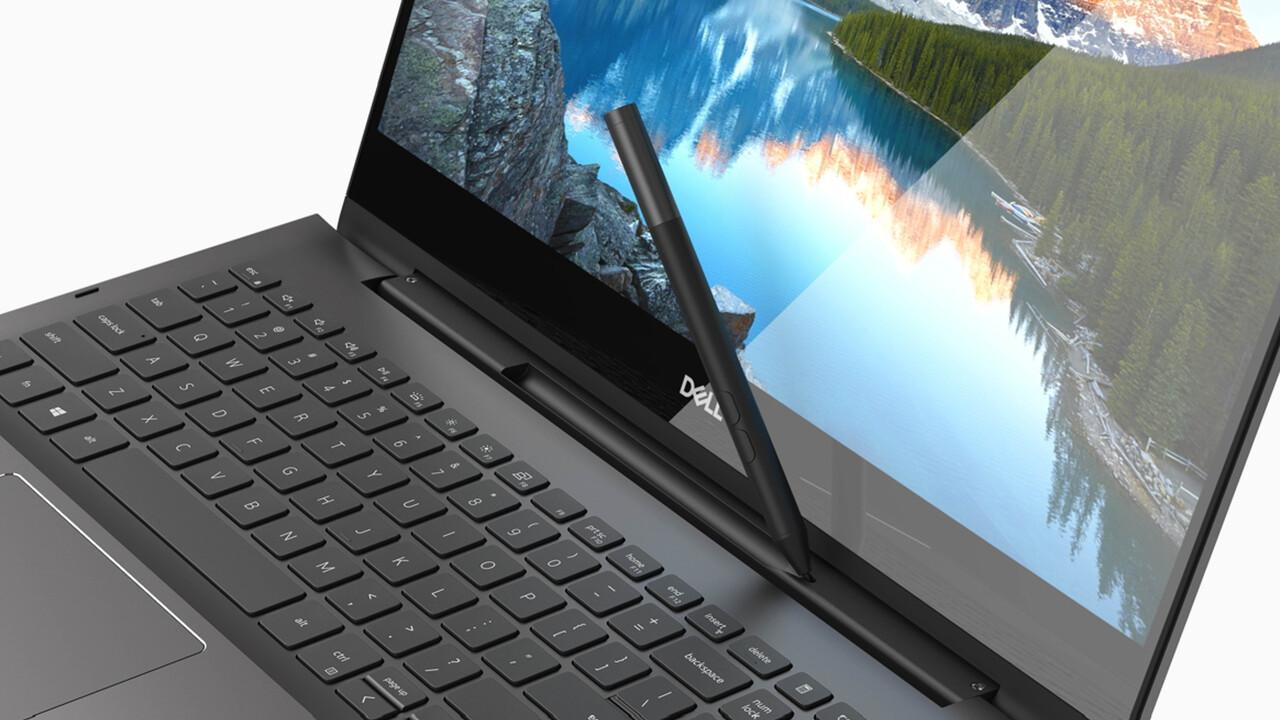 Dell Inspiron 7000: Black Edition verstaut den Stylus im 2-in-1-Scharnier