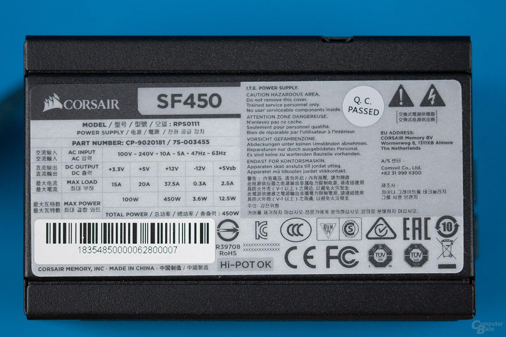 Corsair SF450 Platinum