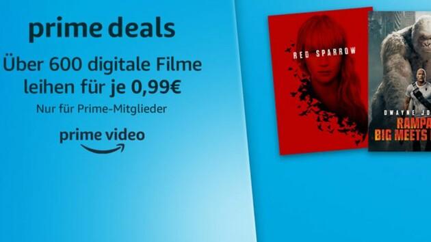 Amazon Prime Video: Mehr als 600 Leihfilme aktuell für 99 Cent