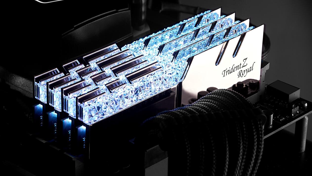 G.Skill Trident Z Royal: Glamouröser RAM mit 4.600 MHz für 487 Euro lieferbar