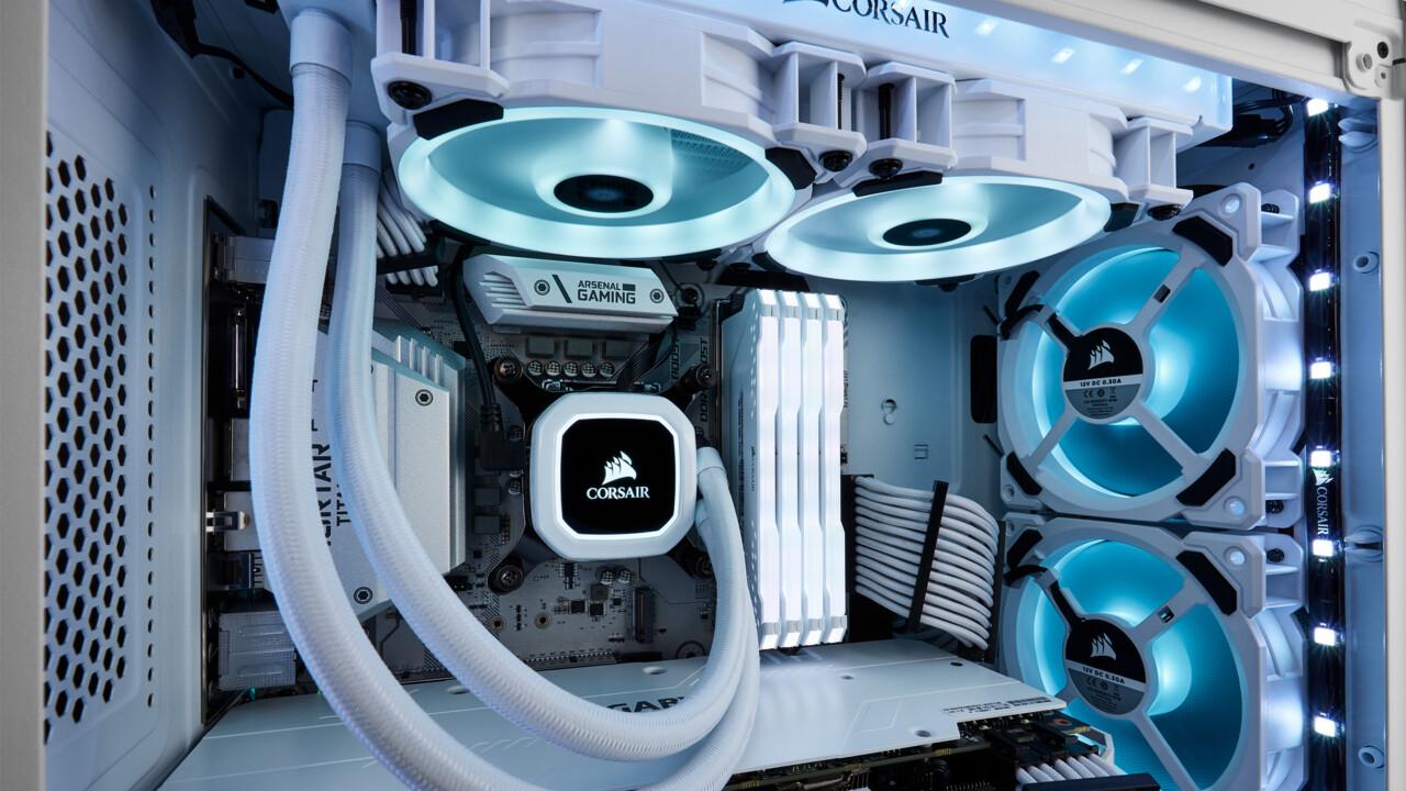 Corsair H100i RGB Platinum SE: Weiße All-in-One-WaKü mit 48 RGB-LEDs