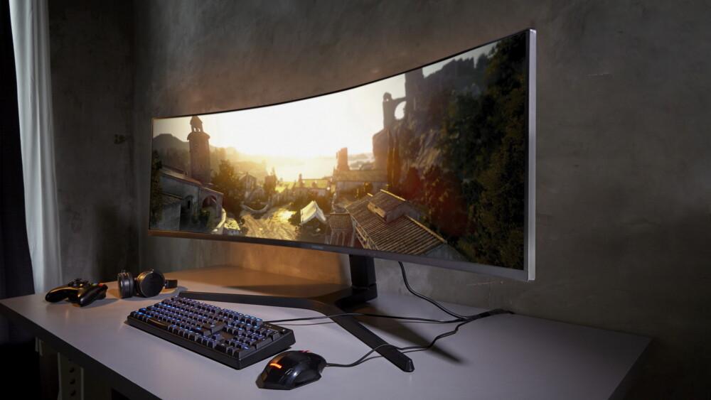 Samsung CRG9: 49-Zoll-Monitor mit 5.120 × 1.440, 32:9, HDR und 120 Hz