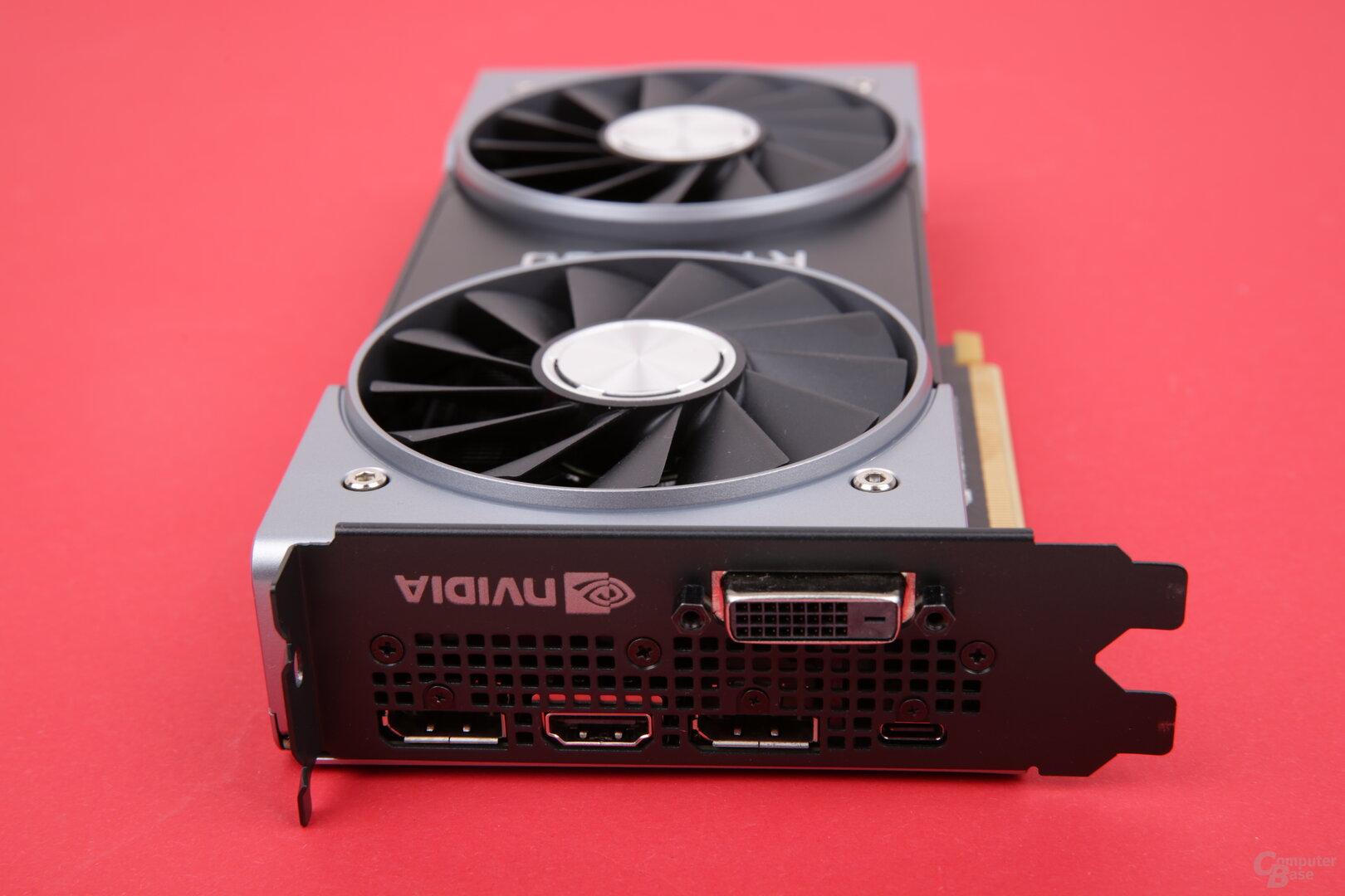 GeForce RTX 2060 FE – die Anschlüsse