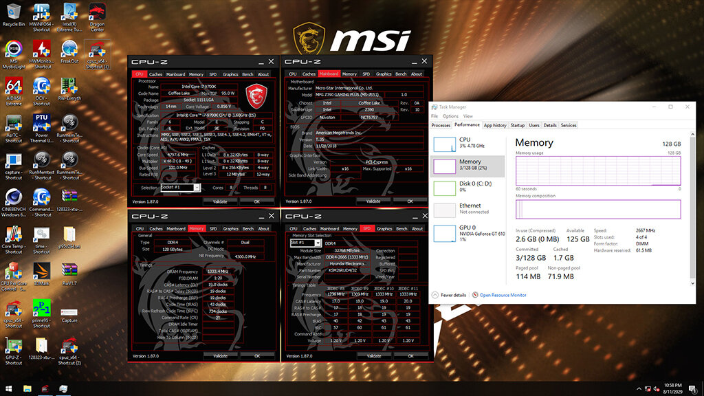 MSI DDR4 Screenshot