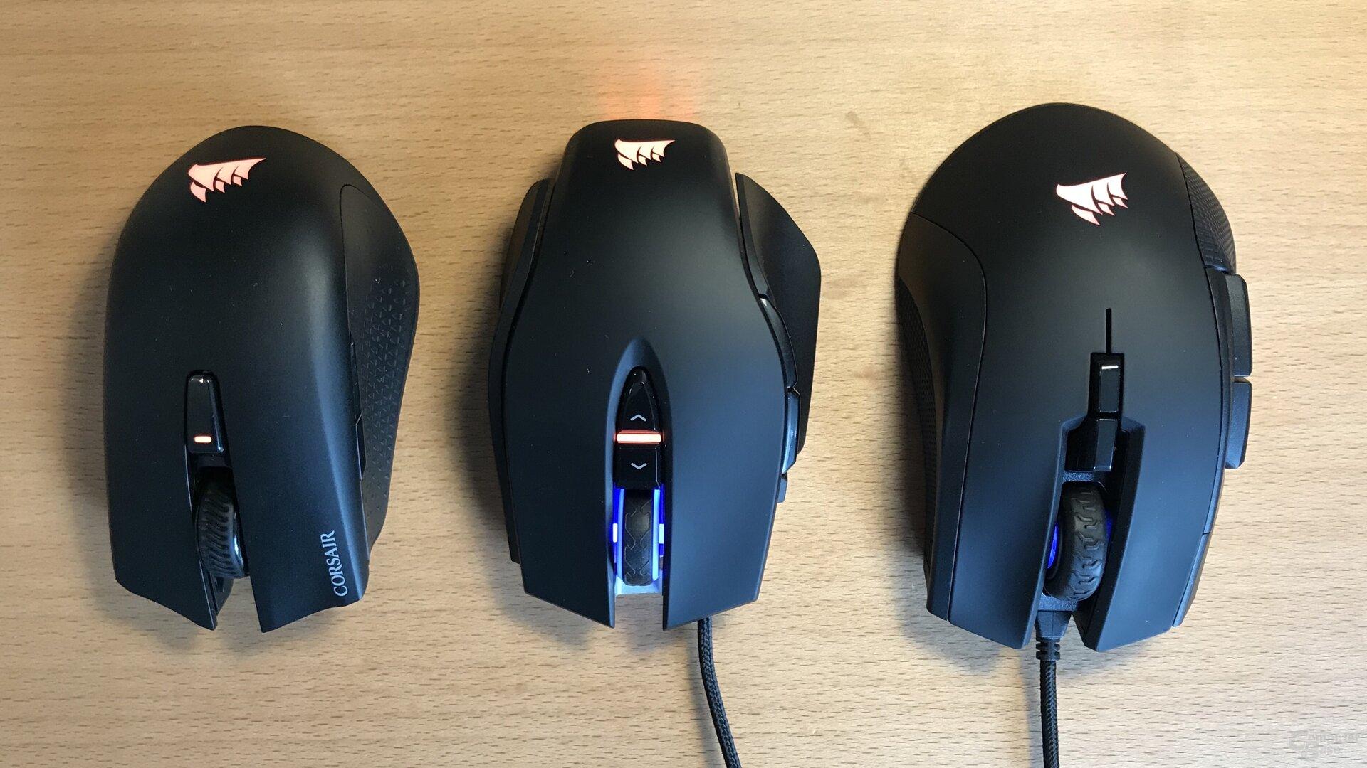 Kleine Maus, mittlere Maus, große Maus