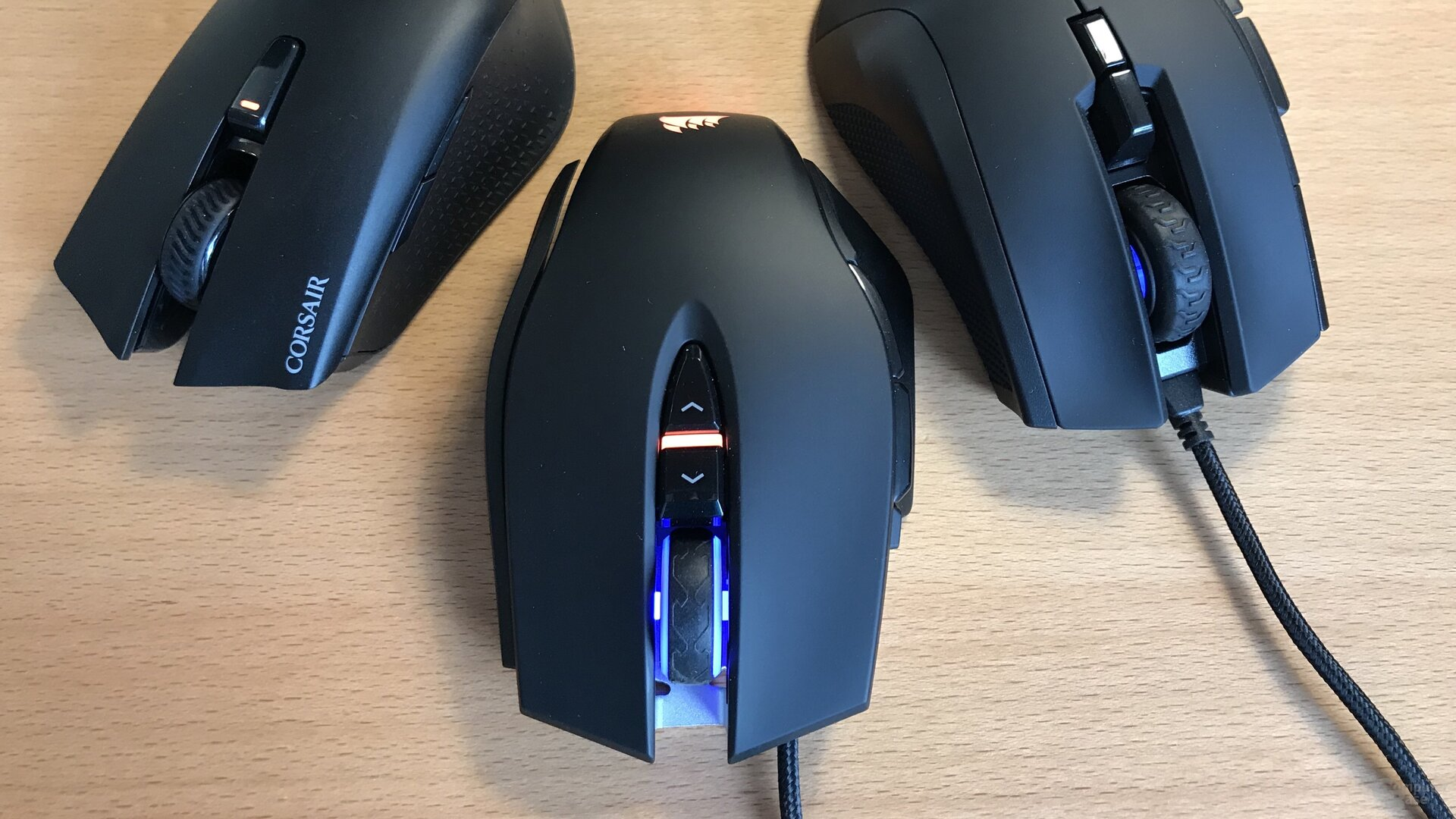 Harpoon RGB Wireless, M65 RGB Elite und Ironclaw RGB