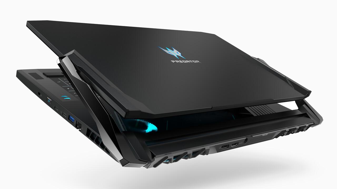 Gaming-Notebooks: Acer Predator Triton 500 und 900 sind schlank oder drehbar