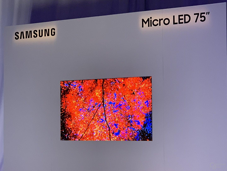 MicroLED-Fernseher mit 75 Zoll für Consumer
