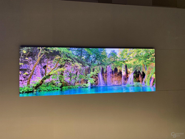 Modularer Fernseher im extrabreiten Format