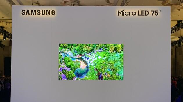 Samsung Microled Fernseher Mit 75 Und 219 Zoll Vorgestellt