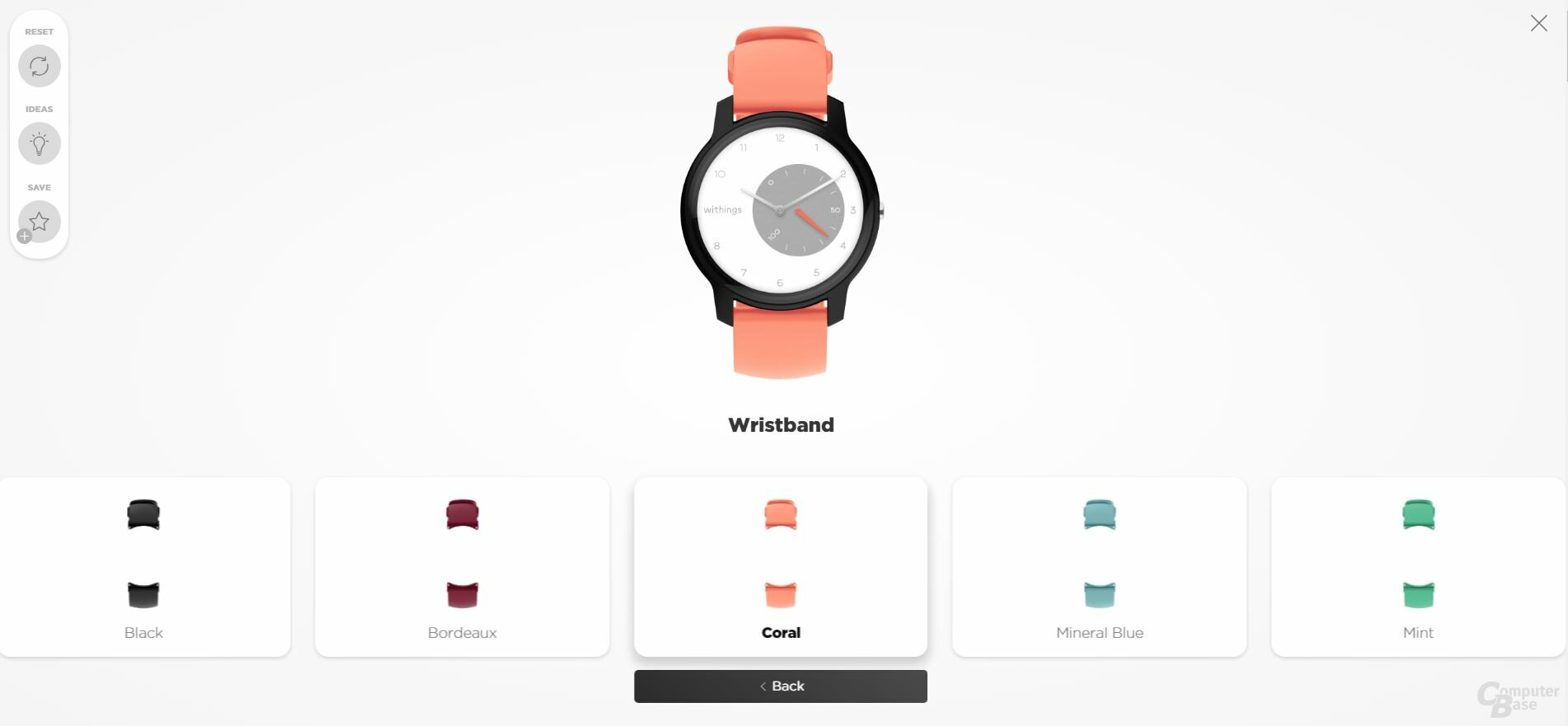 Withings Move: Personalisierung
