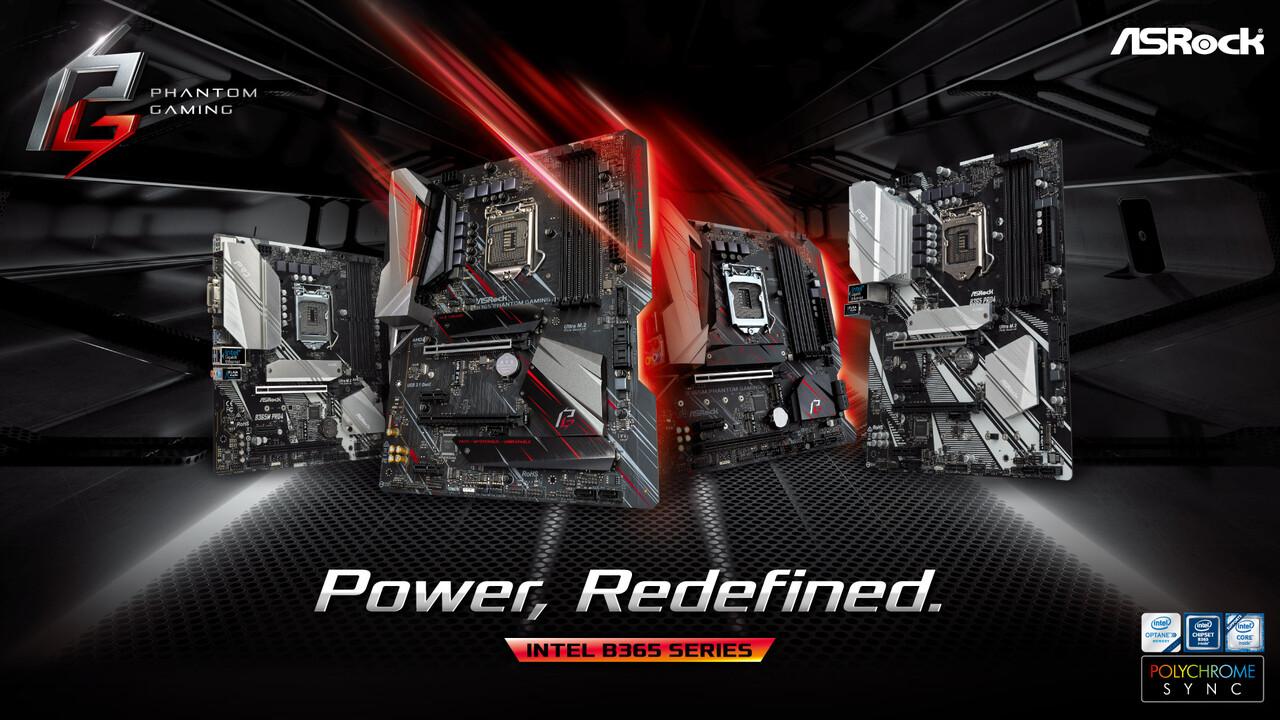 Intel-Platinen: ASRock bringt fünf Mainboards mit neuem B365-Chipsatz